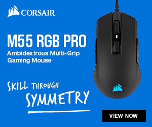 Corsair M55 buttom front page