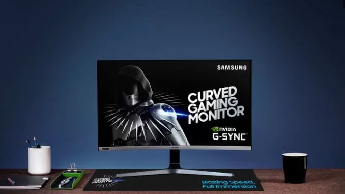 32 tommer Samsung Space Gaming Monitor.JPG