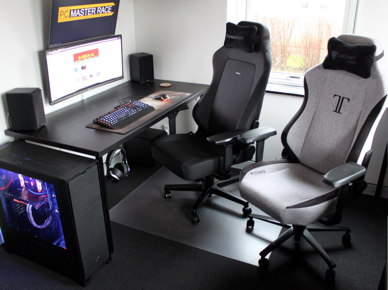 Secretlab titan softweave noblechairs HERO Black Edition sammenligning