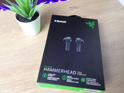 front razer hammerhead true wireless høretelefoner headset gaming in-ear