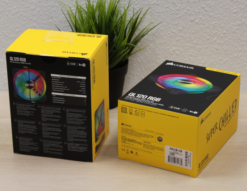 Corsair QL120 RGB iCUE blæsere RGB fans