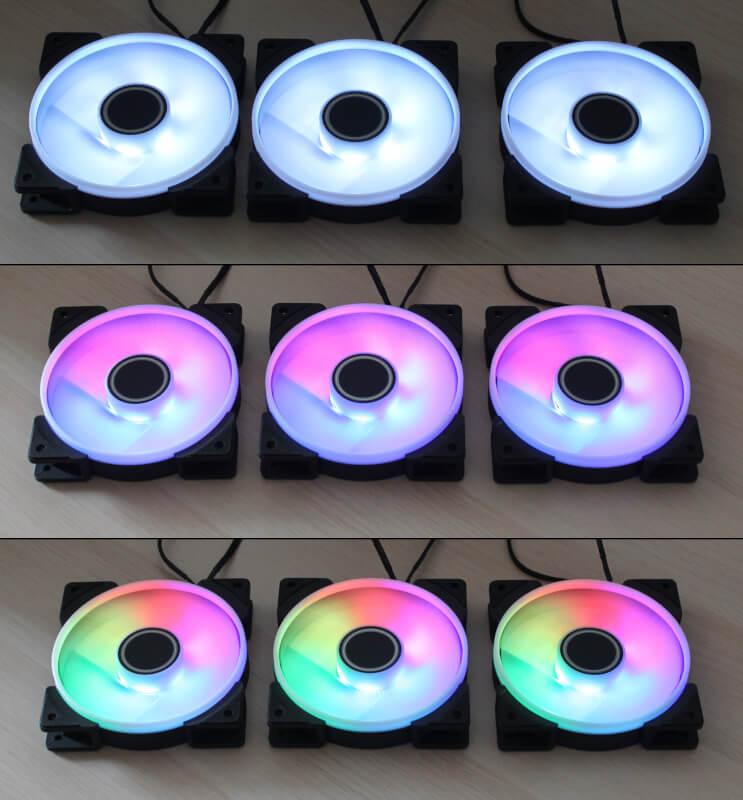Rgb lys fractal prisma design pwm fans