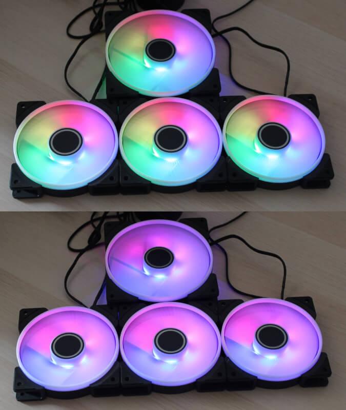 Prisma computerkøling fractal prisma 5V design 140 mm rgb pwm fans
