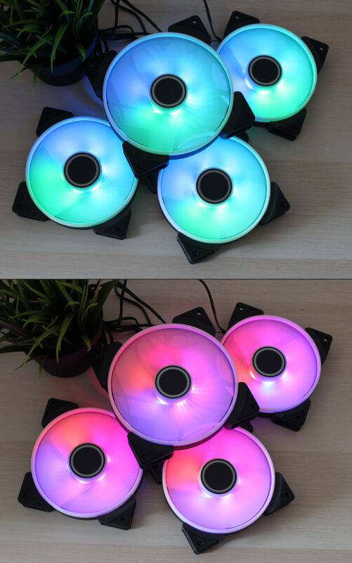 Prisma computerkøling fractal prisma design 140 mm rgb fans