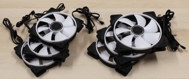 Blæsere fractal fans prisma rgb pwm computerkøling