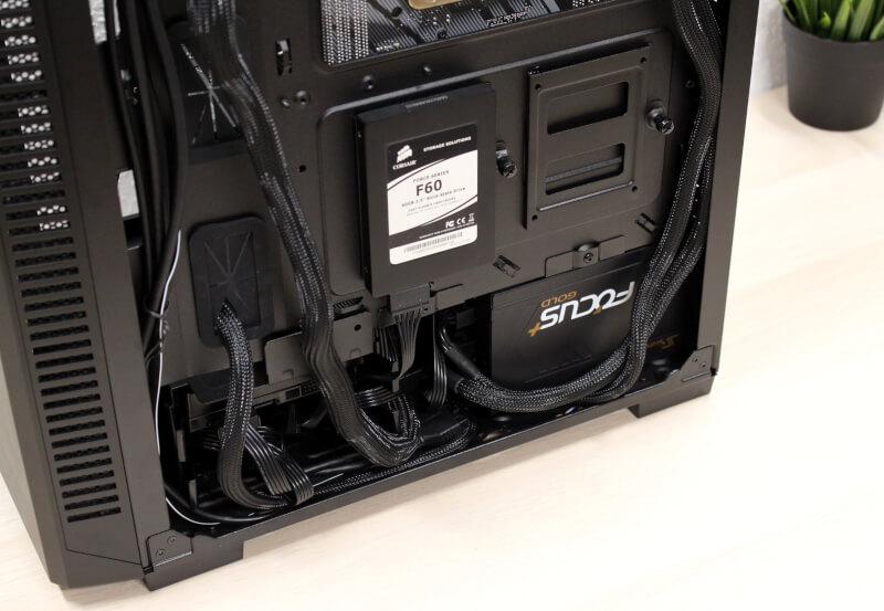 110R glas kabinet ATX Corsair RGB hardwaremontering