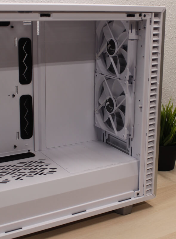 Fractal gaming Design miditower Define 7 kabinet hvidt front