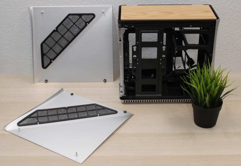 aftagelige sidepaneler gaming Fractal radiator Design Era ITX Gold TG træ sidepaneler
