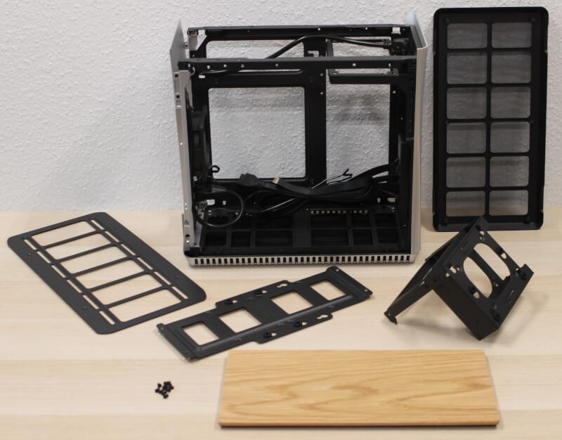 kabinet aluminium Era ITX Fractal indvendigt design træ gaming Design