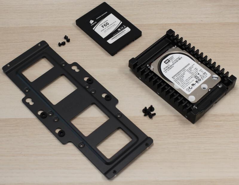 kabinet Fractal drive bay montering af harddisk bur test SFX Era ITX design gaming Design review