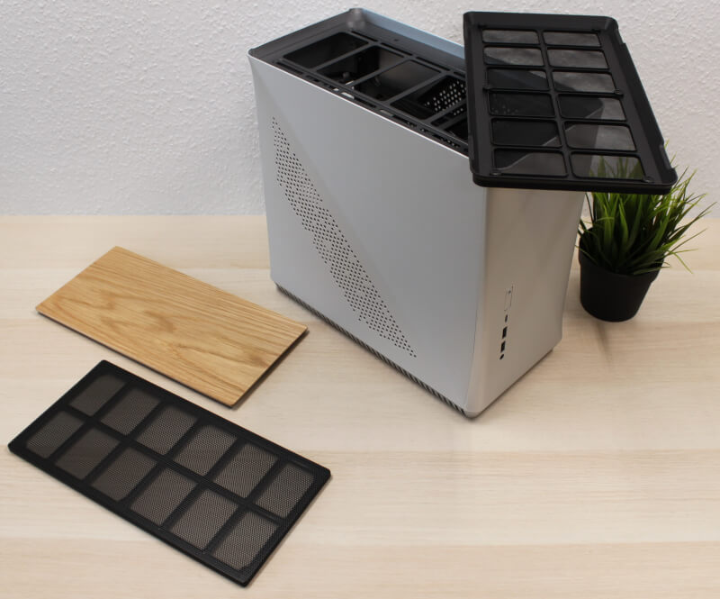 Fractal radiator Design Era ITX Gold TG træ støvfilter