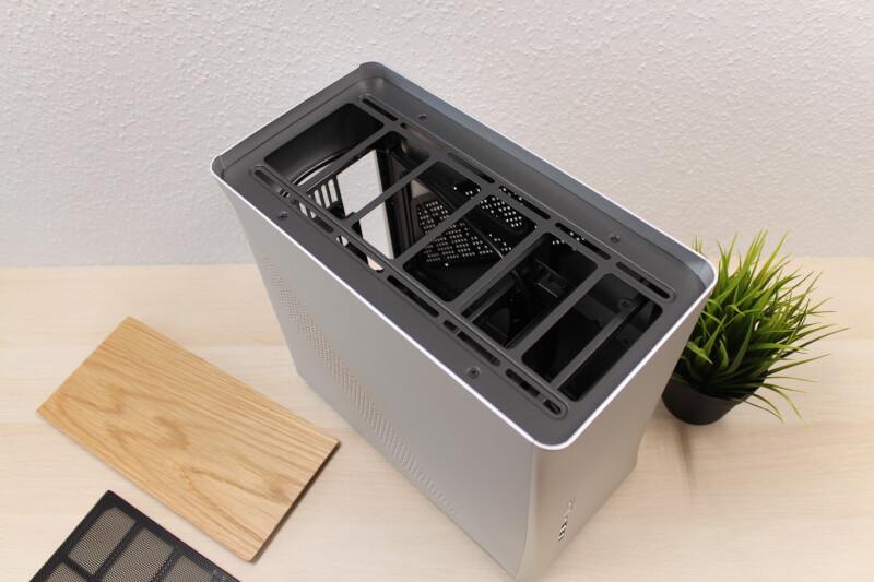 Fractal radiator gaming case Design Era ITX Gold TG træ støvfilter