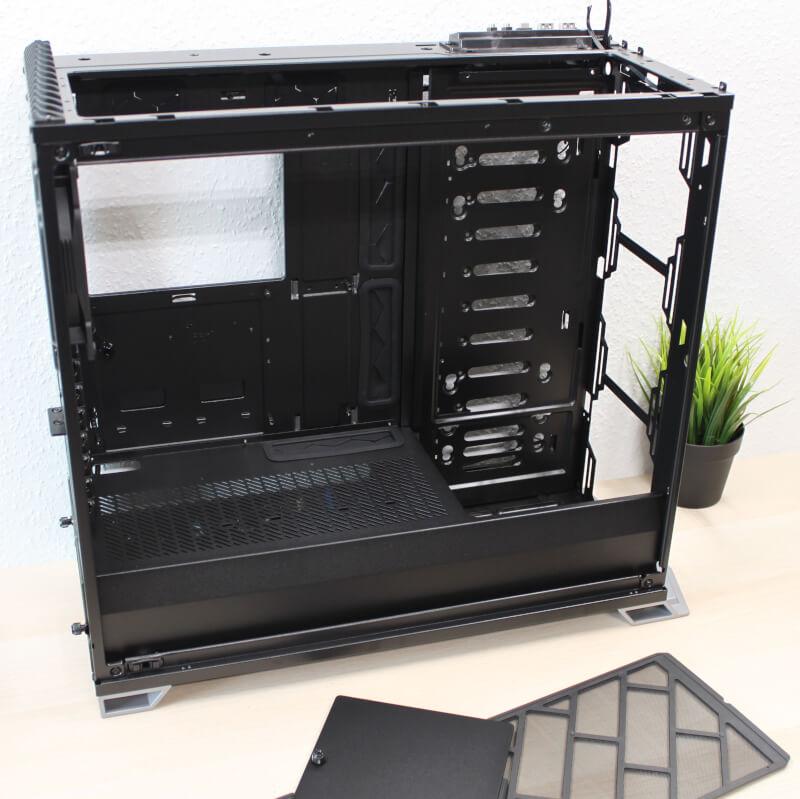 RS Vector glas SSD Design miditower kabinet Fractal SSD montering