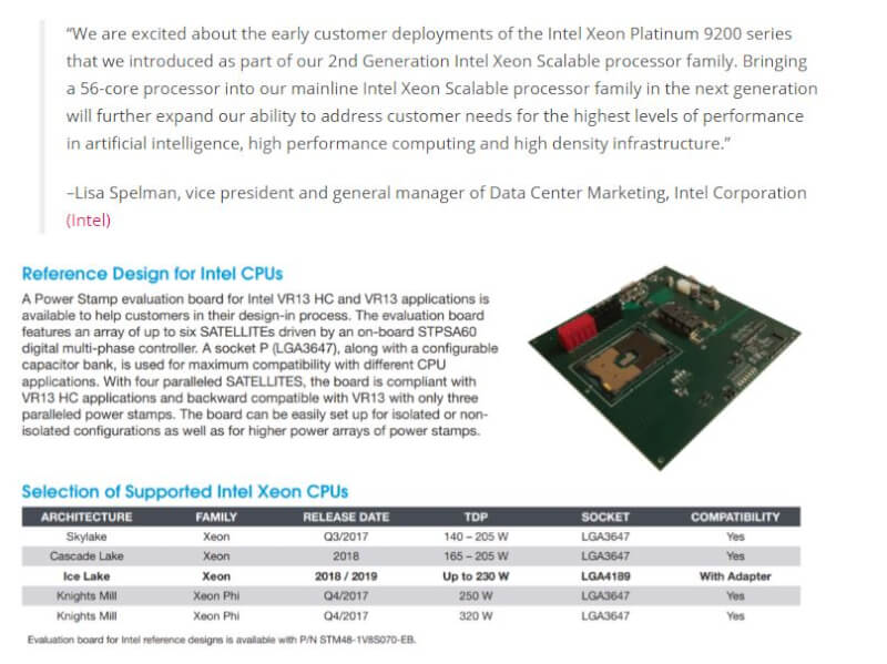 Intel Cooper Lake med 56 Cores & 112 threads i 2020