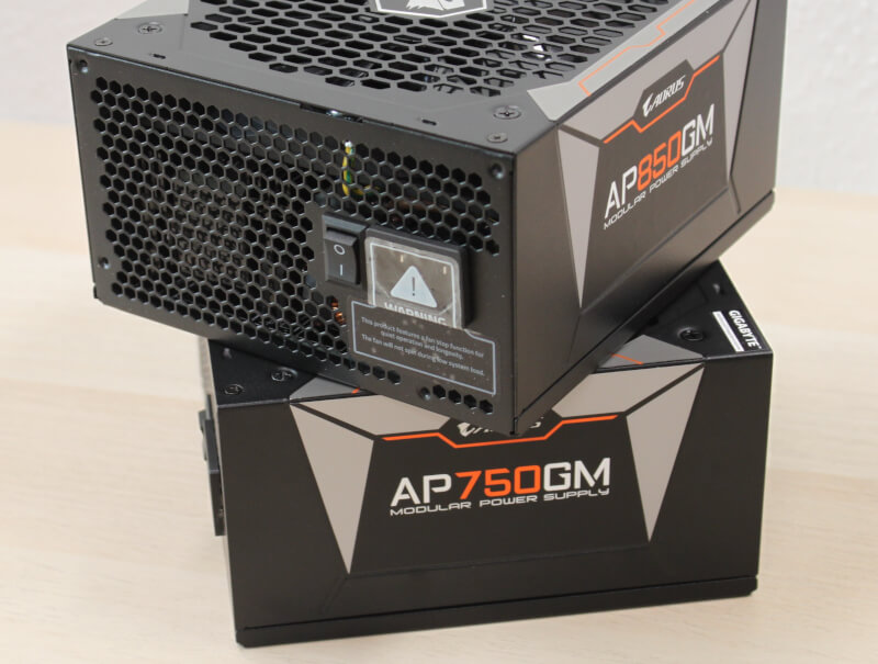 AP750GB PSU gaming aorus strømforsyning modulær EPS