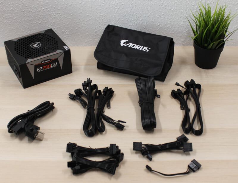 gaming aorus strømforsyning AORUS P750W 80 plus gold aktiv køling