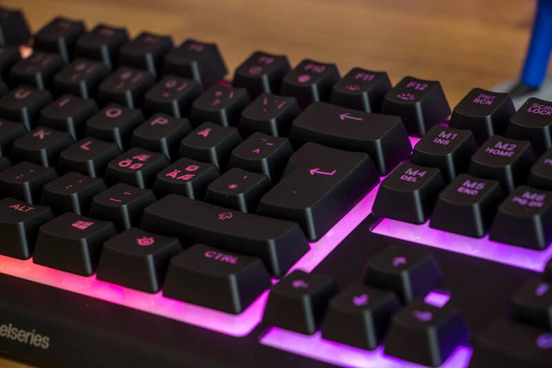 SteelSeries Whisper Quiet gaming switches Apex 3 gaming keyboard