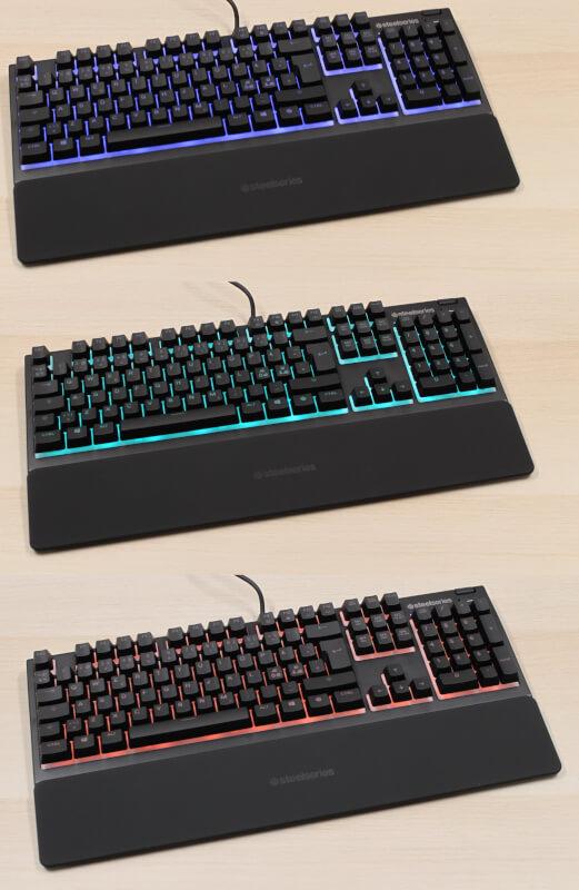 Gamer tastatur software SteelSeries Apex 3 kontakter wisper