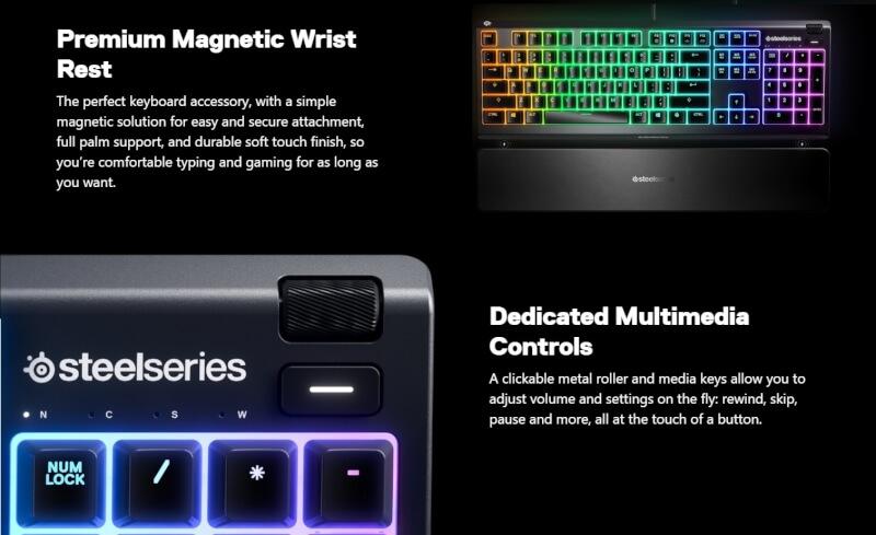 SteelSeries Apex 3 Gaming Tastatur