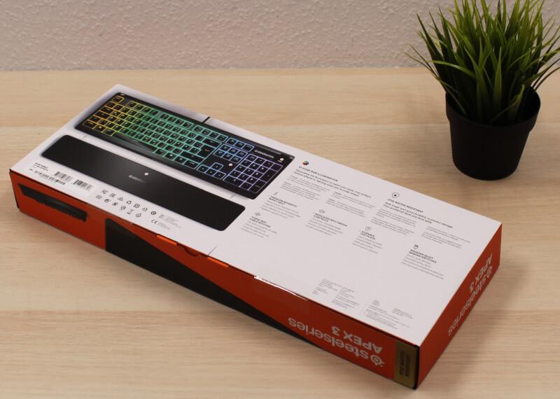 test af SteelSeries Apex 3 Gaming Tastatur