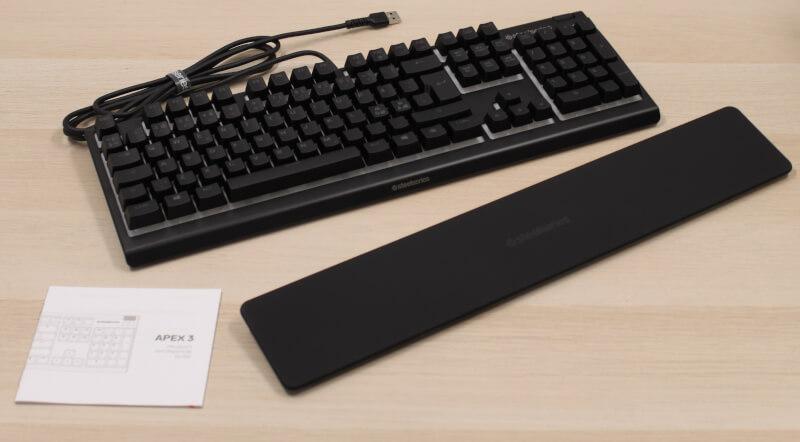 SteelSeries test Apex 3 Tastatur Gaming håndledsstøtte