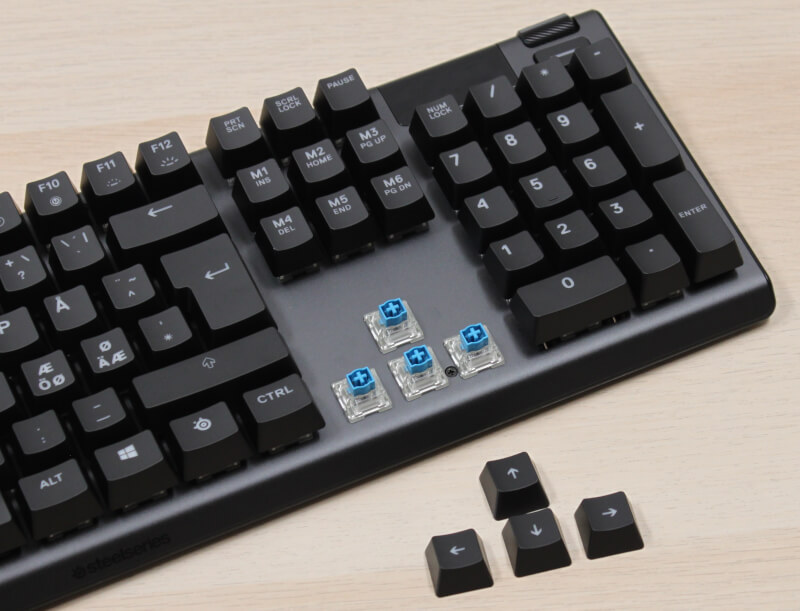 gamer-keyboard_apex_5_kontakter_blue_Steelseries_hybrid_klikkende