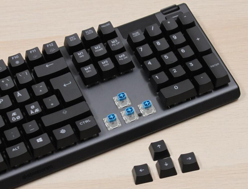 gamer-keyboard_apex_5_kontakter_blue_Steelseries_hybrid_klikkende