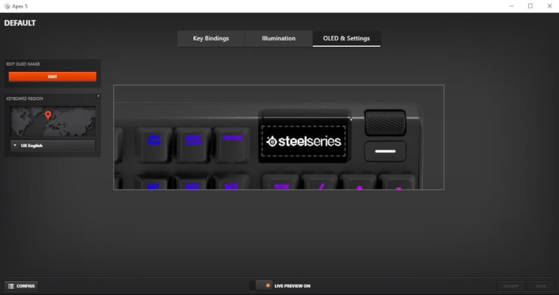 test steelseries_apex_5 software engine knapper design esport firstpersonshooter