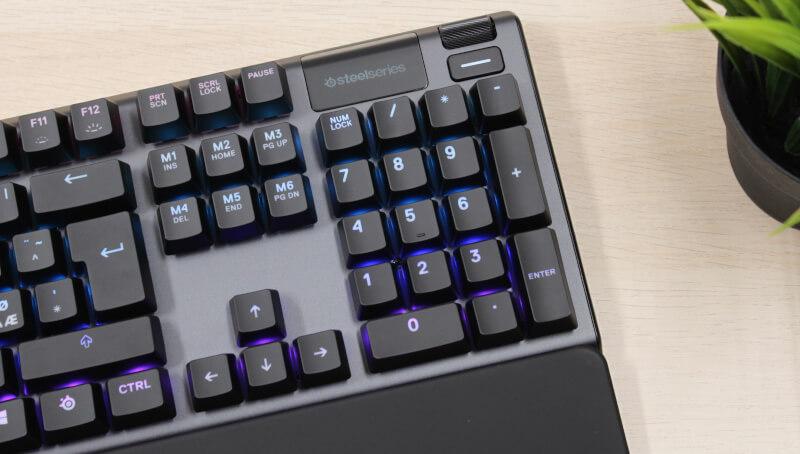 SteelSeries rgb display lys Apex 5 Hybrid mekanisk gaming keyboard OLED