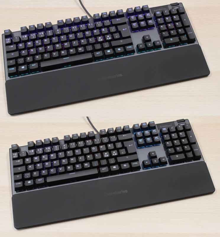 SteelSeries rgb display blue Apex 5 keypresses mekanisk gaming keyboard switches