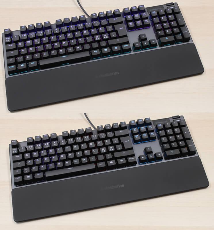 SteelSeries rgb display blue Apex 5 keypresses mekanisk gaming keyboard switches