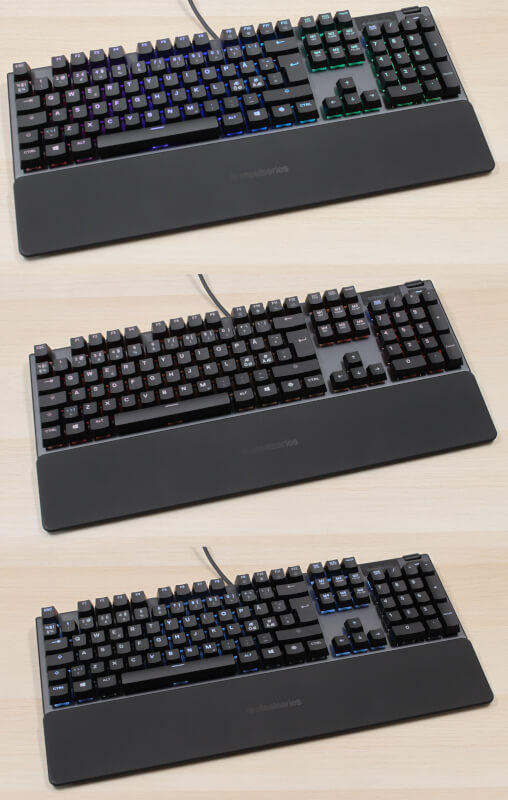 SteelSeries rgb magnetisk håndledsstøtte blue Apex 5 mekanisk gaming keyboard OLED Smart Display