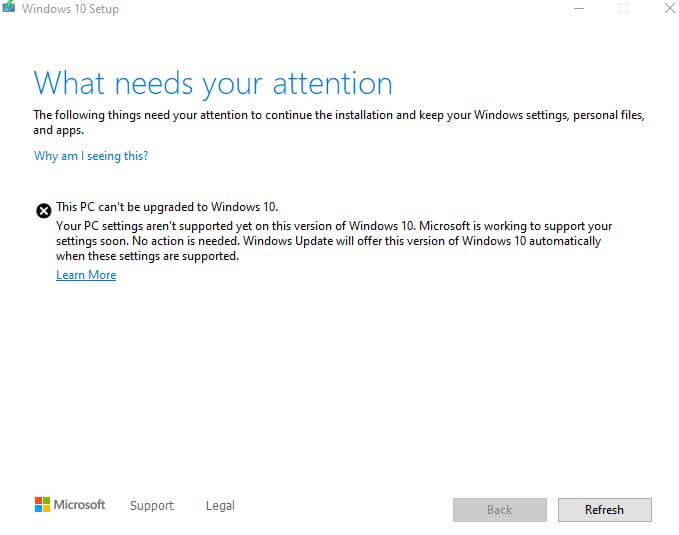 What needs your attention Windows 10 2004.JPG