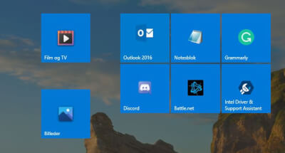 Start Screen i Windows 10