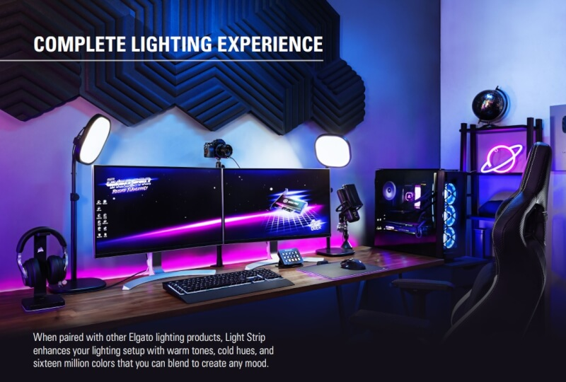 elgato_light_strip_features_setup_showoff_gaming_Streaming_Rgb