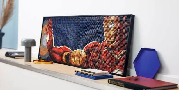 lego art iron man