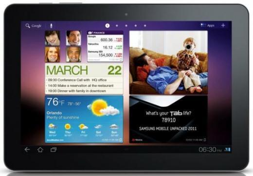 Samsung Galaxy Tab 10.1 er på vej i butikkerne