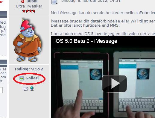 Tilføj dine billeder til galleriet under din Tweak.dk bruger