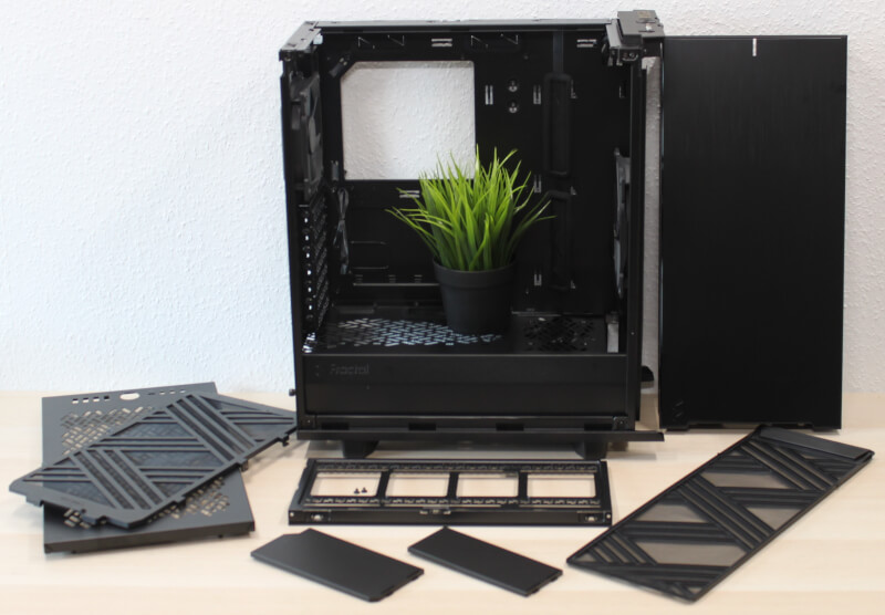 Define modulært 7 Compact Dark stål kabinet radiator Glass