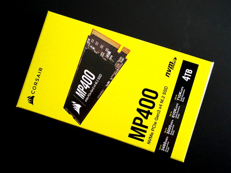 Corsair NVME SSD 4TB MP400 lager test tweakdk