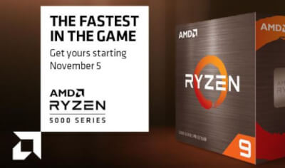 5 november 2020 Ryzen 9 5000 series