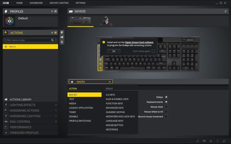 K100 RGB Optical-Mechanical Gaming Keyboard — CORSAIR OPX Switch — Black